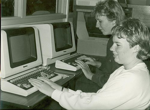 Computer Studies Work 1980. 1980s computers. #tafe #education #geelong #learning