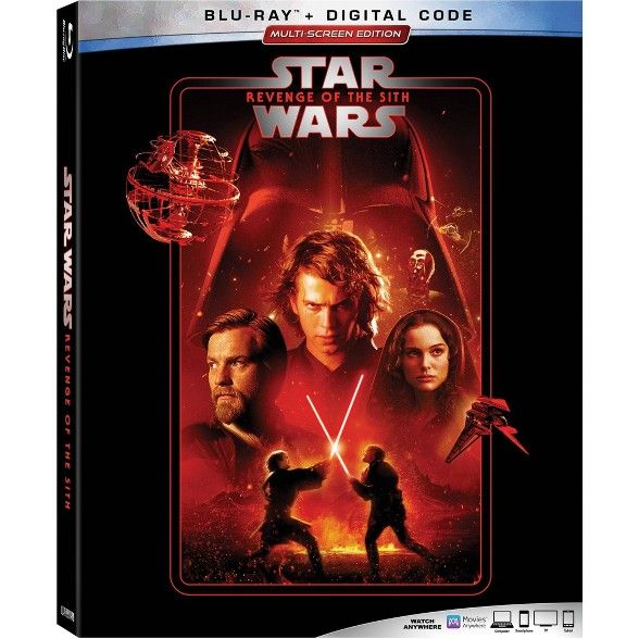 Star Wars Revenge Of The Sith Blu Ray Digital Star Wars Episodes Sith Star War Episode 3
