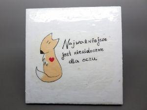 Kafelek Mały Książę lisek (serce)