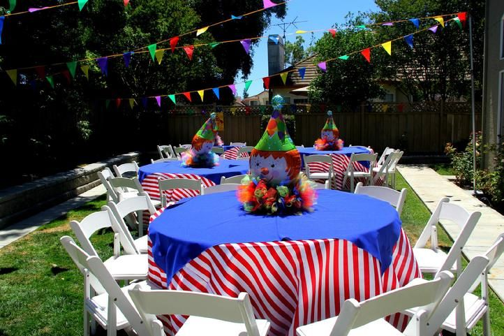 Circus theme birthday, ideas, decorations party,  kids, birthday party, children, chair covers, concession stand, candy station