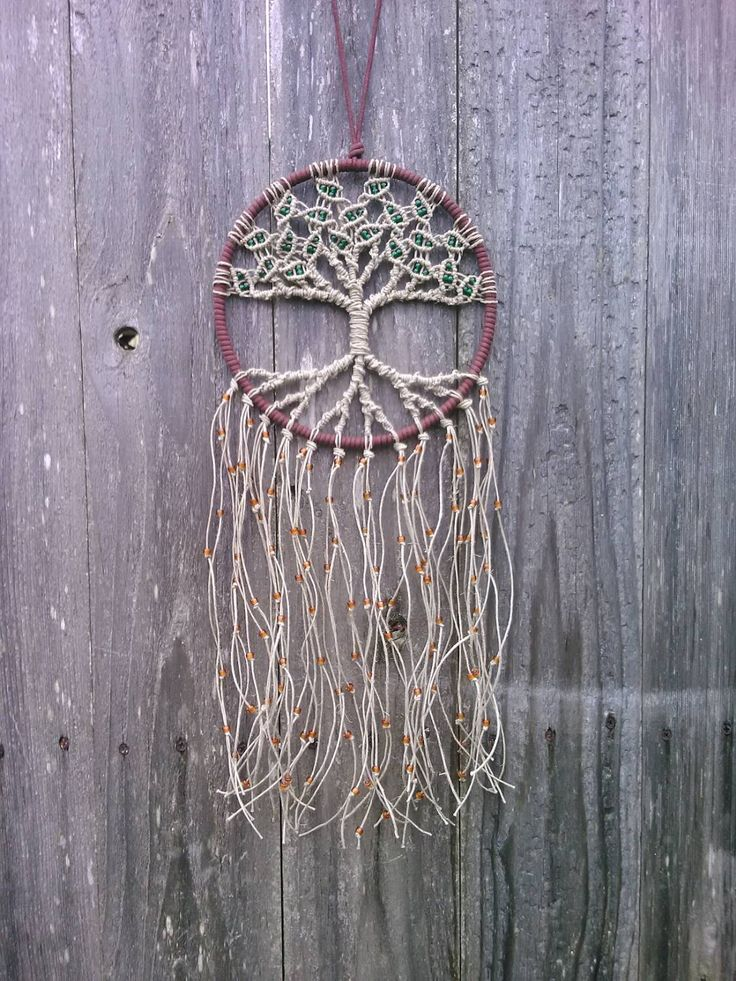 Dreamcatcher del árbol de la vida de cáñamo / por Evergreenbohemian