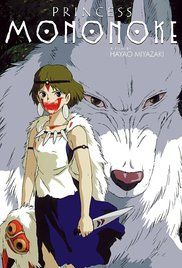 Another Cd disc cover which is the first scene you see Princess Mononoke's face in a bloody scene of her trying to suck poison out of her wolf mothers wound.