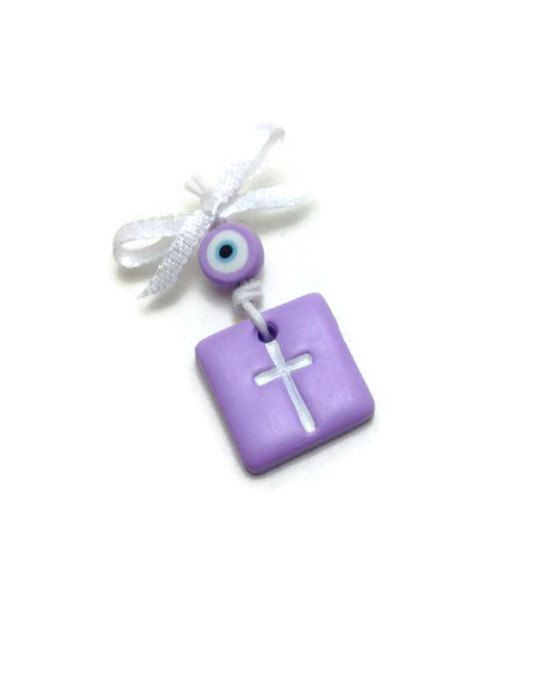 Baptism Favors Witness Pins Cross Charms Boy by JosCreationsGR