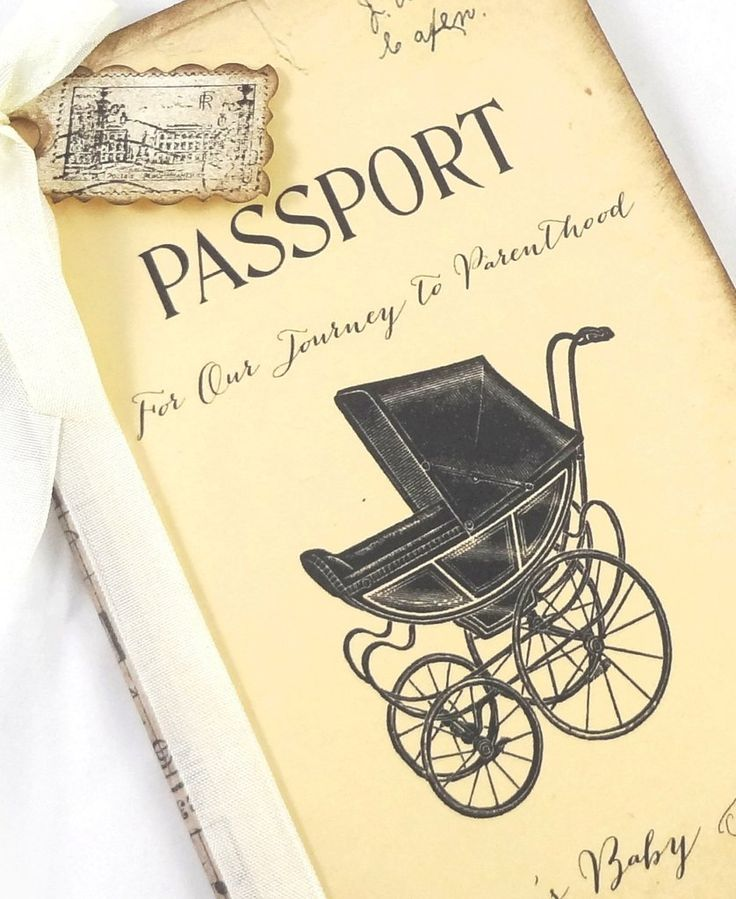 Personalized Baby Shower Guestbook, Travel Themed Baby Shower Guest Book, Stroller, Passport Journal, New Baby Advice Book