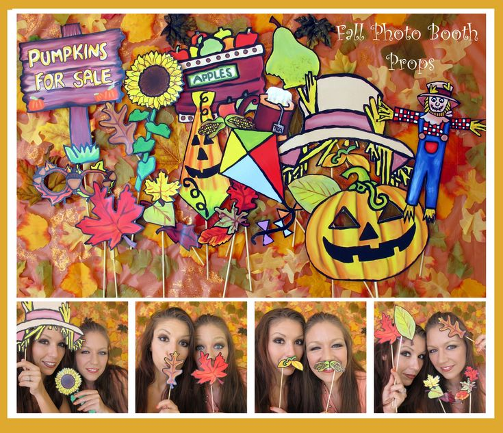 Autumn - Fall Photo booth props - the perfect way to celebrate the beginning of the season