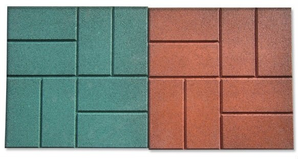 Brick-Top Pattern Rubber Tile  **need this for the isles of my future barn, great for traction as well as it looks great! (green)
