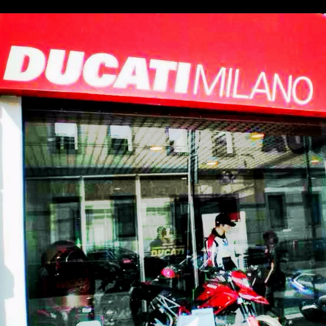 Ducati Store in Milan. Spent all day looking for this.