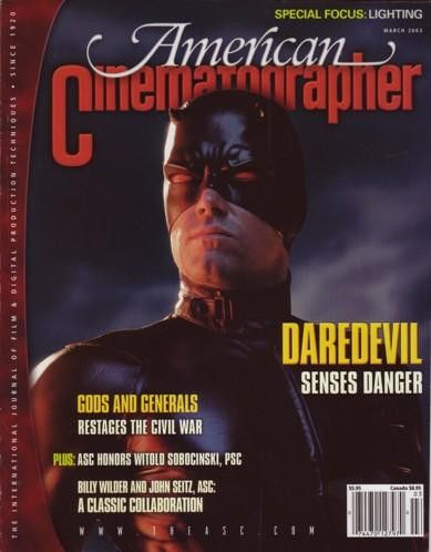 American Cinematographer 3/2003 Daredevil, Gods And Generals