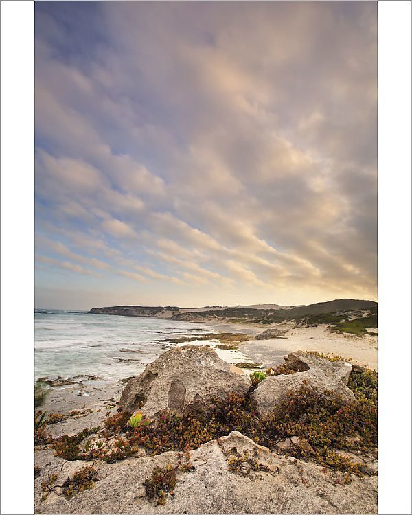 Print Of Late Evening Landscape Of Ocean Over Rocky Shore With Heavy Clouds Blowing In Arniston South Africa In 2020 Rocky Shore Landscape Ocean