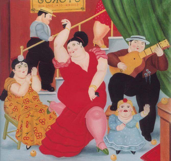 "Fernando Botero ""Tablao Flamenco""   Arte Flamenco   Pinterest www.pinterest.com670 × 634Buscar por imagen Fernando Botero ""Tablao Flamenco""  gonzalo conradi pintor - Buscar con Google"