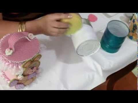 """Técnicas de Reciclaje """"Potes de Latas"""" / Aprender con Rossana - YouTube"""