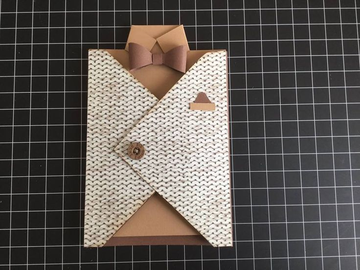 father's day vest card
