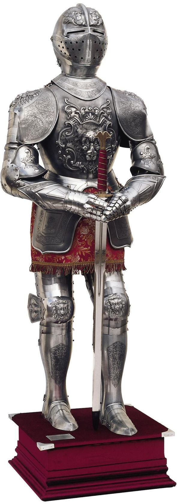 Carlos V Bas Relief Full Size Suit of Armor by Marto of Toledo Spain