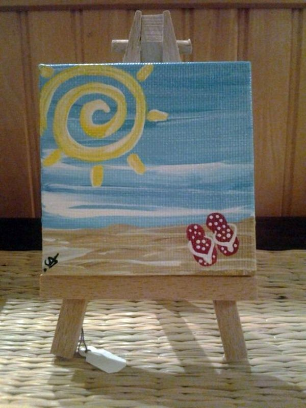 40 Easy Mini Canvas Painting Ideas For Beginners To Try Diy Paintings Art
