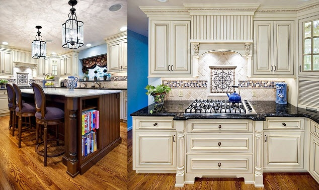 Design Manifest: PORTFOLIO  White kitchen, stained island: Beautiful Kitchens, Cabinets Countertops, Kitchens Ideas, Colors Combinations, Color Combinations, Combinations Kitchens, Kitchens Cabinets, Colors Islands, Cabinets Details