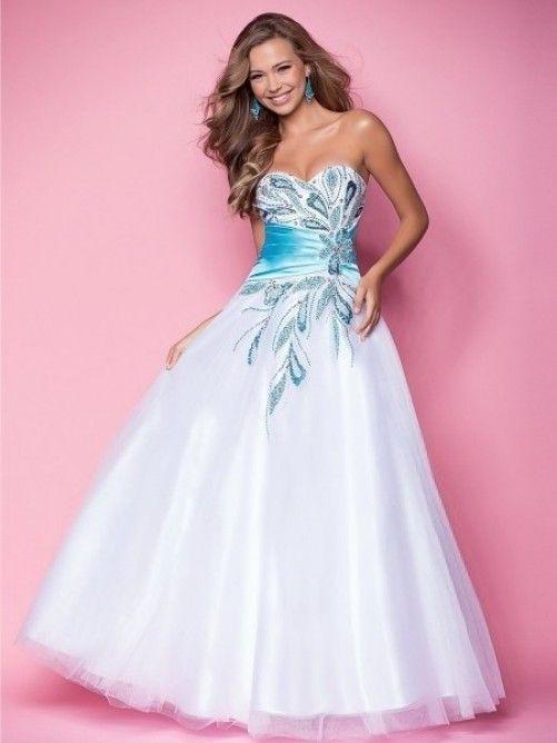 Sweetheart Ball Gown Beading Sleeveless Floor-length Tulle Dress