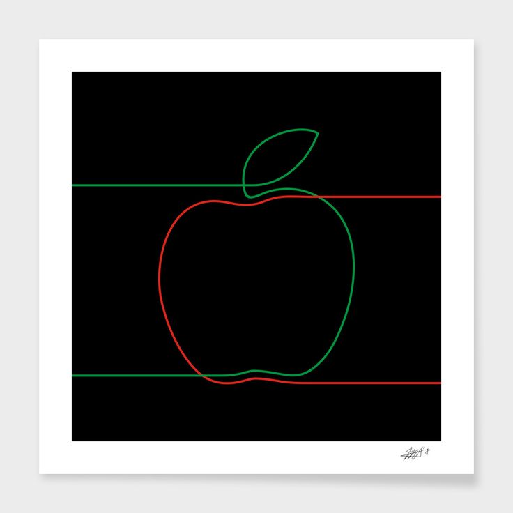 Apple - The artwork is available on: https://www.curioos.com/product/print/apple-3