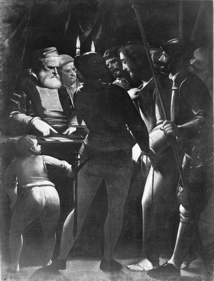 """Genova, Galleria di Palazzo Bianco. Luca Cambiaso, Cristo davanti a Caifa / Geoa, Palazzo Bianco. Painting by Luca Cambiaso representing """"Christ before Caiaphas"""""""