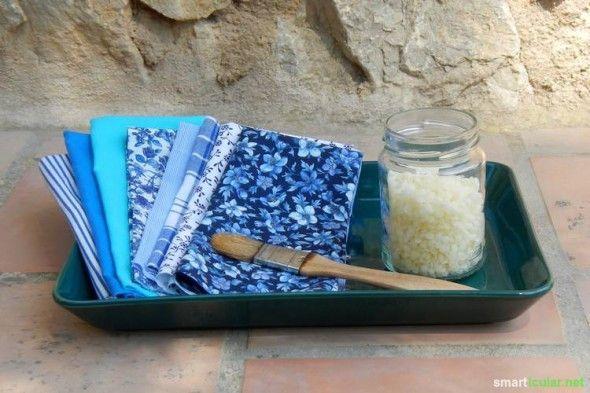 Frischhaltefolien: Alternative sind selbst hergestellte Wachstücher. Wiederverwendbar, handlich, einfach gemacht!
