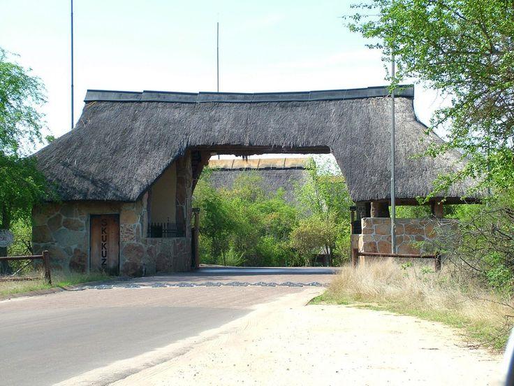The entrance gate to Skukuza Rest Camp in Kruger National Park.