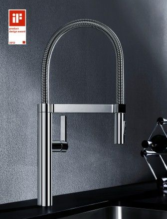 Four wins: The international iF product design award 2012 is already the fourth award for the Blancoculina-S mixer tap. The tap with various clever details for semi-professional use is the elegant embodiment of the perfect symbiosis between functionality and aesthetics. Photo: Blanco