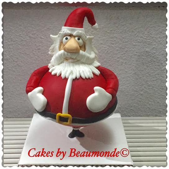 Deze kerstman taart met gevulde buik (Jolly Santa) heb ik gemaakt tijdens de workshop van Dirk Luchtmeijer (Cakez n Fun).