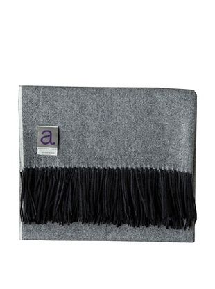 Alicia Adams Alpaca Maya Alpaca-Blend Throw, Black, 51