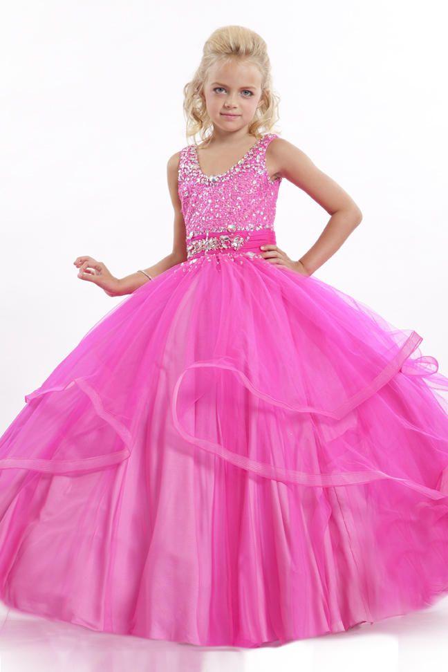 2016 Новый Кристалл V-образным Вырезом Маленький Цветок Девушка Бальное платье Из Органзы Пром Платье Дети Pageant Платья Для Свадьбы Китай
