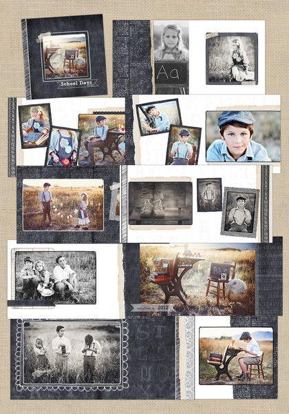 Chalkboard old-school | 12x12 Album