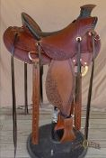 Virginia Dale Wade This handsome wade features custom design and fit.  Made with the finest materials and hardware this rig will last a lifetime. The deep centered seat is made to fit the rider for supreme comfort and control.  Made to order one at a time.
