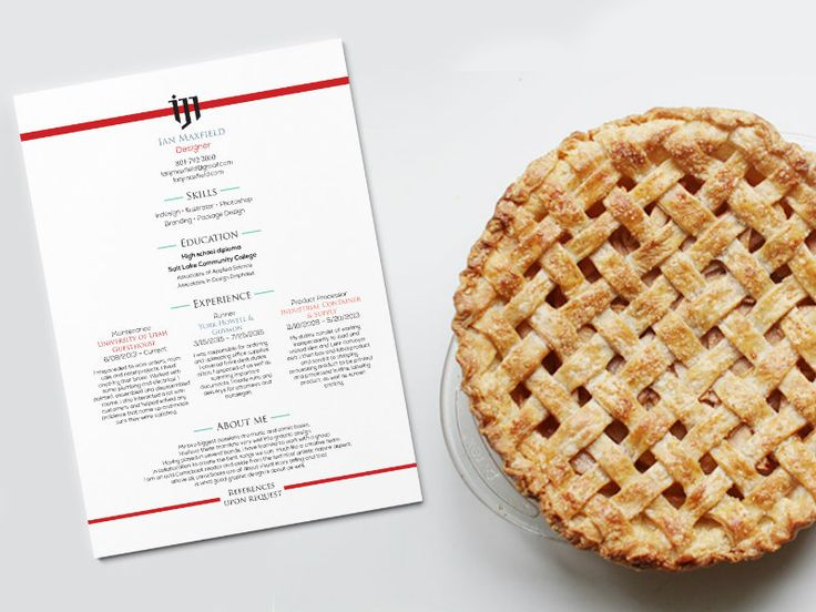 How to use pie to sweeten your resume.