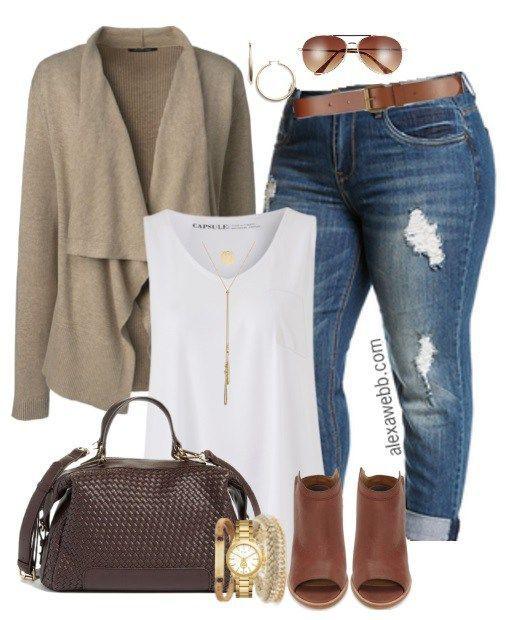 cool Plus Size Fall Jeans Outfit - Alexa Webb by http://www.globalfashionista.xyz/plus-size-fashion/plus-size-fall-jeans-outfit-alexa-webb/