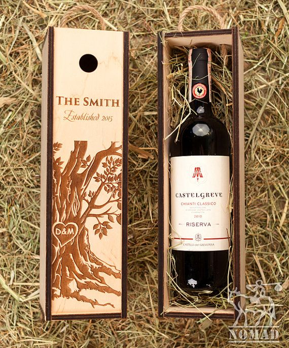 Wedding Wine Box Wine Box Ceremony Wine Box Wine Box by NomadGift