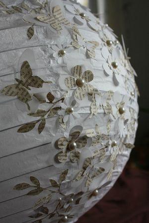 Boule japonaise diy pinterest papillons et roses - Plafonnier boule chinoise ...