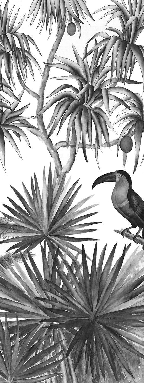 Ananbô Papier peint Jarawa Noir & Blanc www.ananbo.com