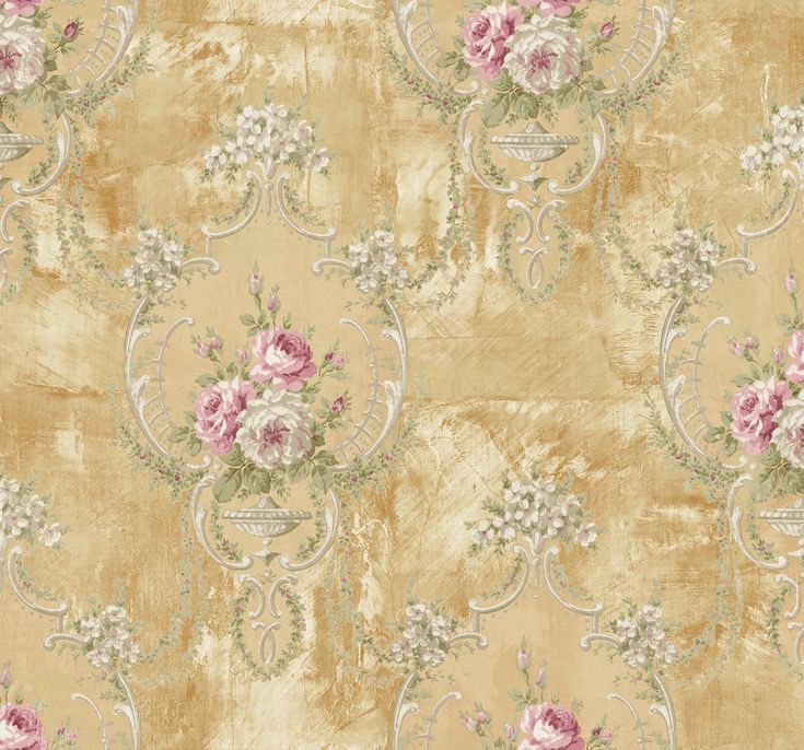Mayflower Wallpaper Marble Floral Gold Cream Pink Victorian - - Amazon.com