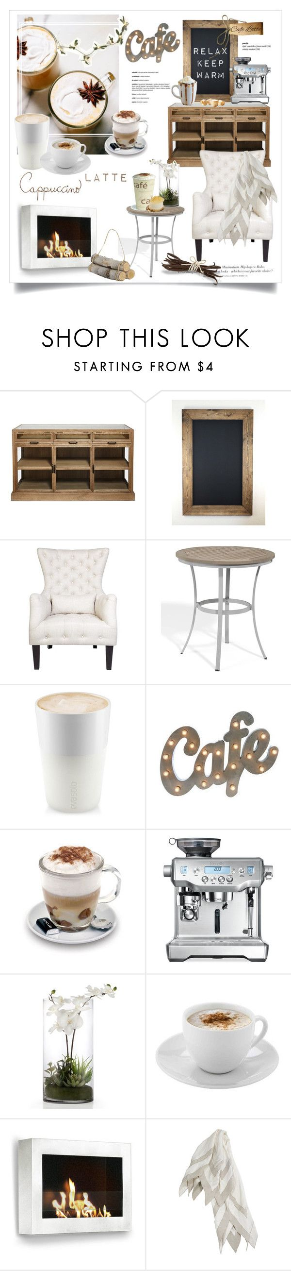 """""""Relaxed Cafe"""" by rever-de-paris ❤ liked on Polyvore featuring interior, interiors, interior design, home, home decor, interior decorating, Cafe Lighting, Oxford Garden, Eva Solo and Aroma"""