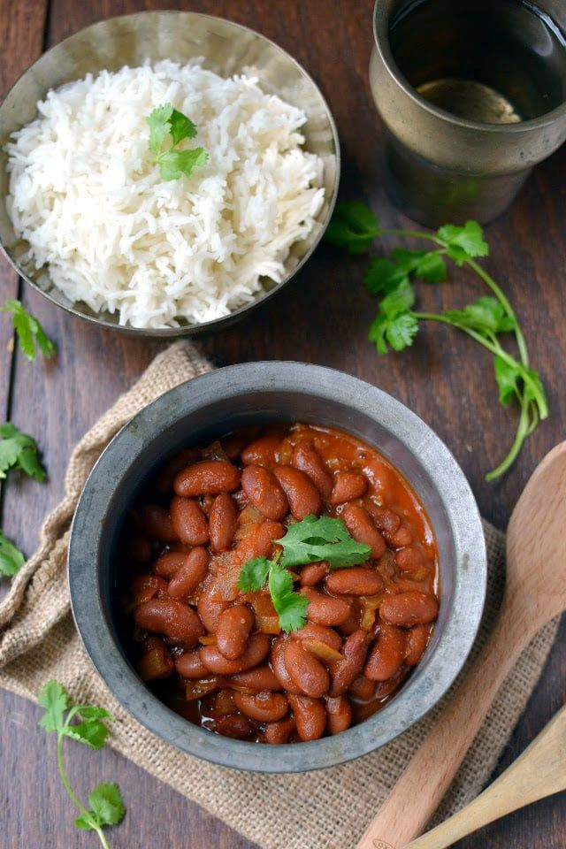 Rajma Chawal (Red Kidney Bean Curry with Rice) Recipe | cookshideout