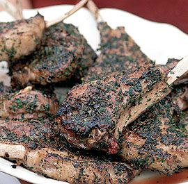 Grilled lamb rib chops with a rosemary & sage crust  Grilling suits these chops perfectly, but they can also be cooked in a skillet on the stovetop. I also like this herb combination with inexpensive, thin lamb shoulder chops, cut about 1/2-inch thick.