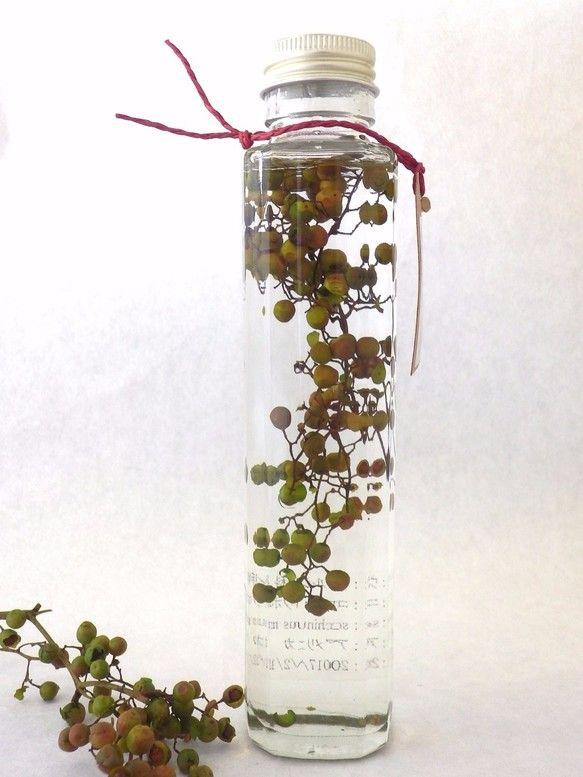 植物ノ瓶詰メ標本collection コショウボク グリーン (ペッパーツリー、ペッパーベリー)|フラワー・リース|花職人工房|ハンドメイド通販・販売のCreema
