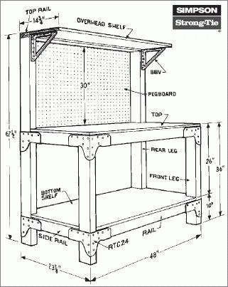 Free Easy Gun Cabi  Plans on garage workbench ideas