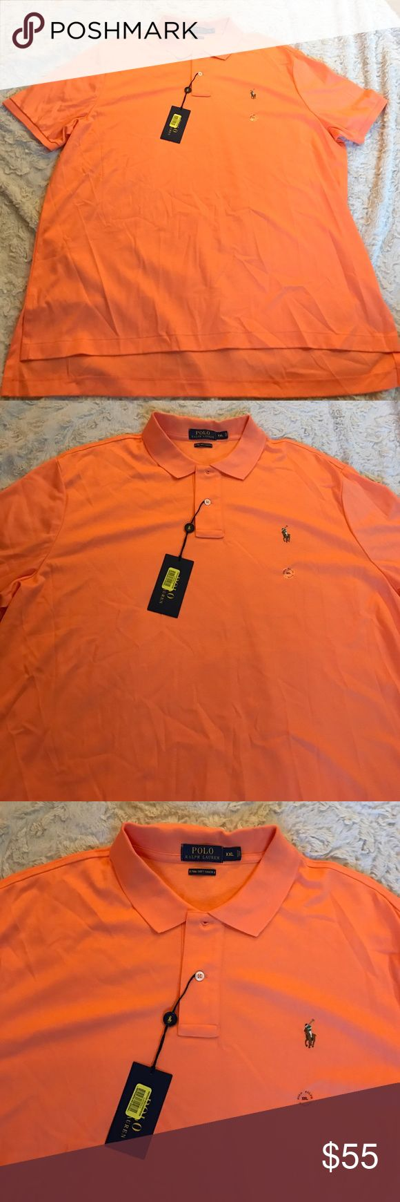 NWT Polo Ralph Lauren Men's Shirt XXL New with Tags  Color Orange   Short Sleeve  100% Pima Soft Touch Cotton I Guarantee Authentication Of this Nice Shirt.  Please Check My Other Listings And Make A Bundle. Code : MA Polo by Ralph Lauren Shirts Polos