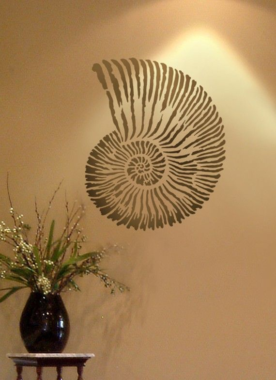 Large Stencil Fossil Shell Reusable Stencils Better Than
