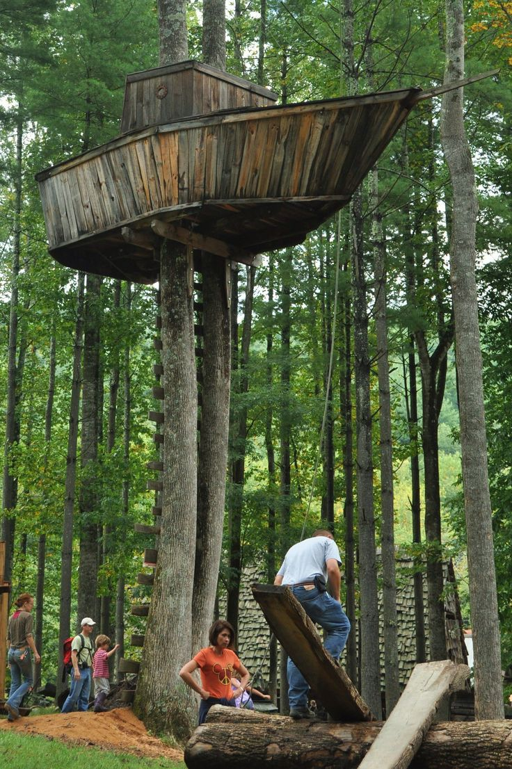 Tree Fort Ideas For Lake Hubby Wanted A Boat For Our Lot