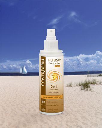 Coverderm Filteray Body Plus Deep Tan Spray SPF30/50+