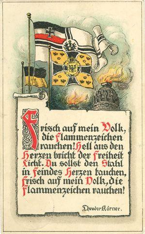 Theodor Körner, Aufruf, Frisch auf mein Volk, Verlag Martin Schlesinger in Berlin