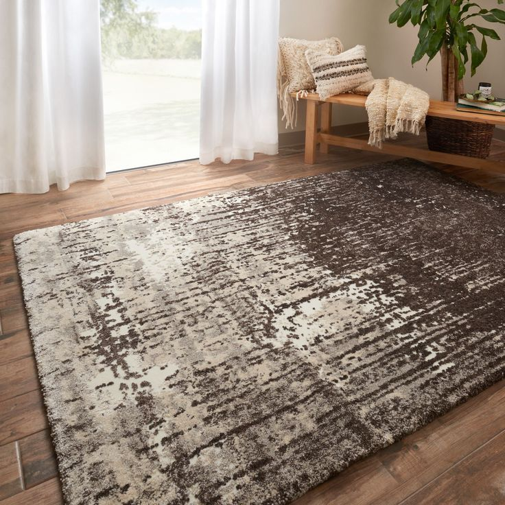 Alexander Home Hastings Ivory/ Brown Rug (Ivory/ brown (7'7 x 10'6)) (Polypropylene, Abstract)