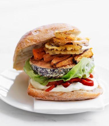Eggplant Burger | Food | Pinterest