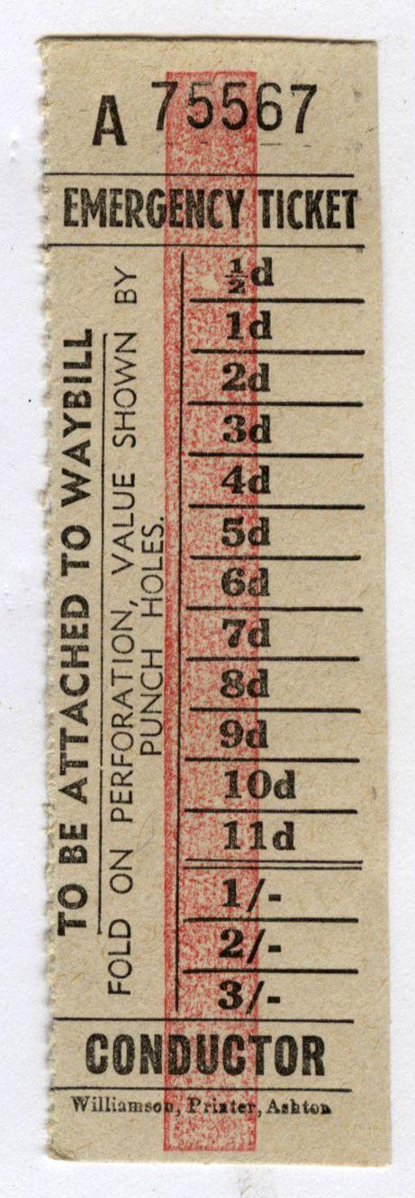 Emergency ticket