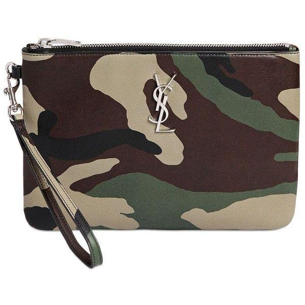 ysl rive gauche bag - monogram prairie flower pouch bag, black multi